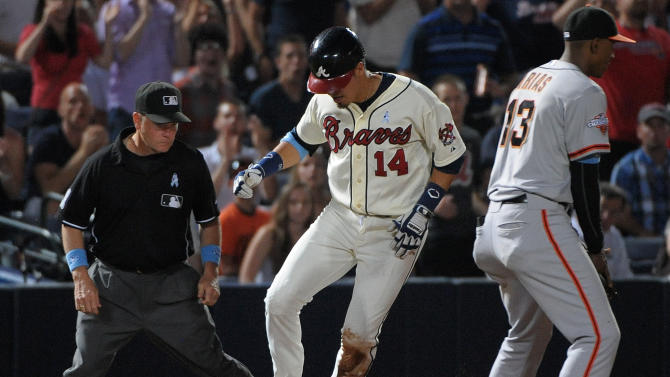 Freeman, Teheran lead Braves past Giants 3-0