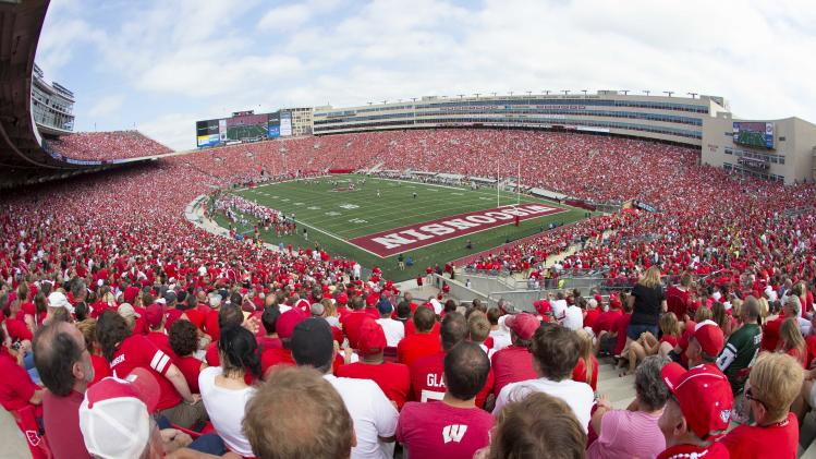 NCAA Football: Massachusetts at Wisconsin