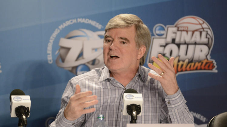 NCAA Basketball: NCAA President Mark Emmert-Press Conference
