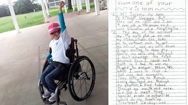 Texas Girl Paralyzed by Drunk Driver Leaves Jury in Tears (ABC News)