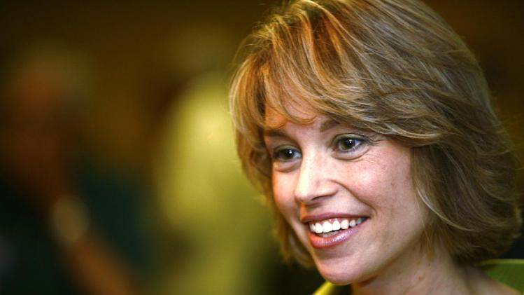FILE - In this June 26, 2010 file photo is former South Dakota U.S. Rep. Stephanie Herseth Sandlin in Sioux Falls, S.D. Sandlin said Monday, May 13, 2013, she will not seek the U.S. Senate seat being vacated by retiring Sen. Tim Johnson. (AP Photo/Argus Leader, Devin Wagner, File)