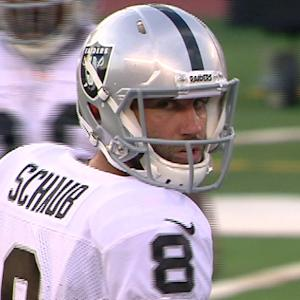 Oakland Raiders quarterback Matt Schaub elbow update