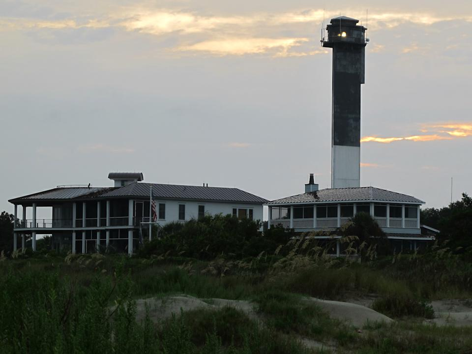In this Tuesday, July 31, 2012 photo, Charleston Light, the last major lighthouse built in the United States, is seen on Sullivans Island, S.C. The National Park Service is considering alternatives in a draft management plan to refurbish the lighthouse and provide public access. (AP Photo/Bruce Smith)