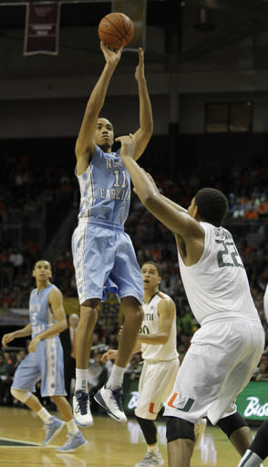 Brice Johnson leads No. 15 North Carolina past Miami 73-64