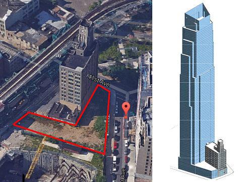 Rendering Reveals: First Look at New York's Tallest Tower Outside of Manhattan