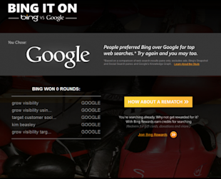 I Took the Bing It On Challenge: Search Engine Challenge for Google image i took the bing challenge 470x381