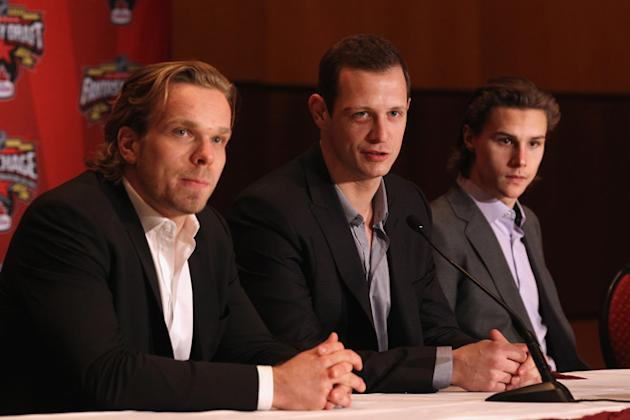 Milan Michalek, Jason Spezza And Erik Karlsson