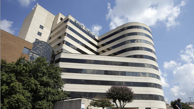 Saint Thomas Hospital in Nashville, Tenn., is shown Thursday, Oct. 4, 2012. Dr. Robert Latham, chief of medicine at Saint Thomas, said Thursday a patient died there late Wednesday or early Thursday, bringing the number of deaths in Tennessee to three in a growing outbreak of a rare form of meningitis that has sickened more than two dozen people in five states. One of the clinics that used the steroid injection suspected in causing the meningitis is located in Saint Thomas. (AP Photo/Mark Humphrey)