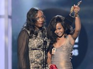 Pat Houston and Bobbi Kristina Houston-Brown accept the Millennium Award on behalf of Whitney Houston onstage at the 2012 Billboard Music Awards held at the MGM Grand Garden Arena in Las Vegas, Nevada on May 20, 2012 -- Getty Premium