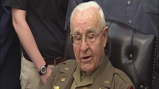 Vet honored 70 years after serving