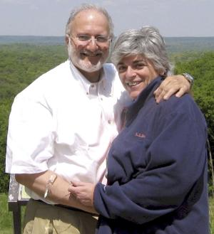 FILE - In this file handout photo provided by the Gross family shows Alan and Judy Gross. Gross, imprisoned in Cuba for more than two years would like to see a Cuban baseball game, eat ribs and drink Scotch if and when he gets out of prison, his older sister Monday, Aug. 6, 2012. Bonnie Rubinstein, the sister of Cuban prisoner Alan Gross, was in Washington Monday for a weekly demonstration in front of Cuba's equivalent of an embassy. In an interview afterward, she said her 63-year-old brother is a Washington Redskins football fan who has grown interested in Cuban baseball because his jailors watch games. (AP Photo/Gross Family, File)