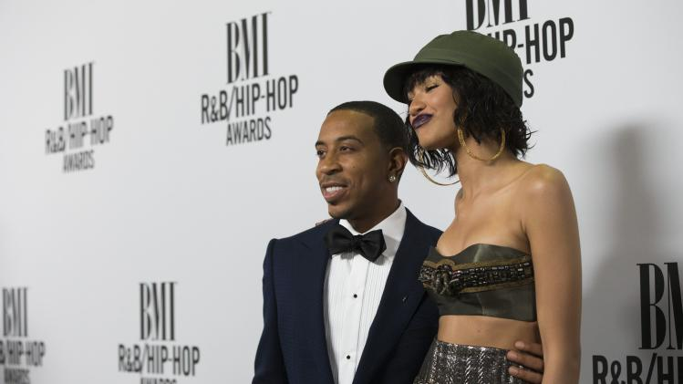 "Recording artists ""Ludacris"" Bridges and Zendaya pose at the 2014 BMI R&B/Hip-Hop Awards at the Pantages Theatre in Hollywood"