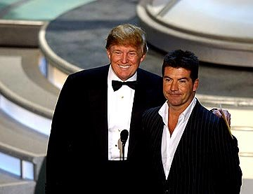 Donald Trump and Simon Cowell