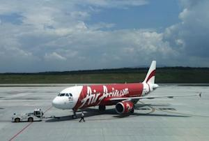 uAir Asia aircraft model 9M-AQB is seen on track at Low Cost Carrier Terminal (LCCT) airport at Sepang