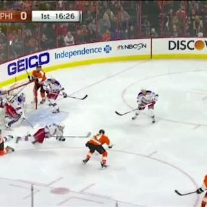 Cam Talbot Save on Mark Streit (03:32/1st)