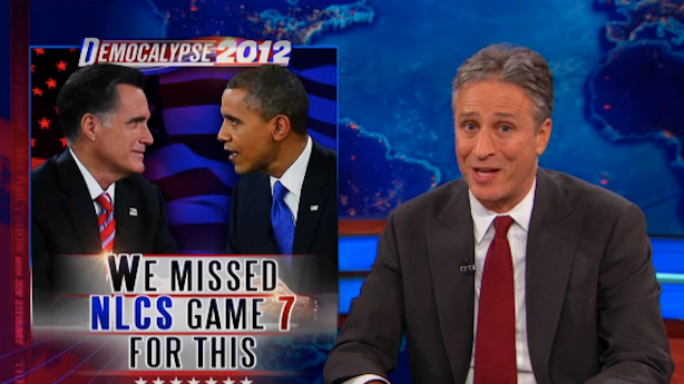 Obama Just Might Have a Shot of Winning Romney's Vote, Jon Stewart Says