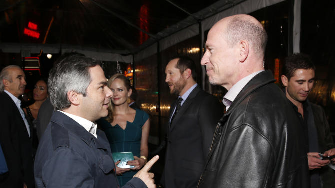 """President/ Paramount Film Group Adam Goodman and Vice Chairman of Paramount Pictures Corporation Rob Moore attend the premiere of """"Hansel & Gretel Witch Hunters"""" on Thursday Jan. 24, 2013, in Los Angeles.  (Photo by Todd Williamson/Invision/AP)"""