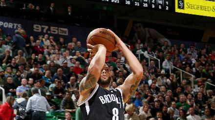 Johnson, Blatche lead Nets over Jazz 105-99