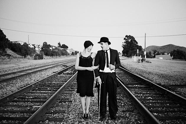 Silent Film Engagement Photos