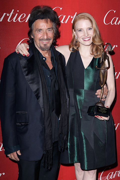 2012 Palm Springs Film Festival Awards Gala Al Pacino Jessica Chastain