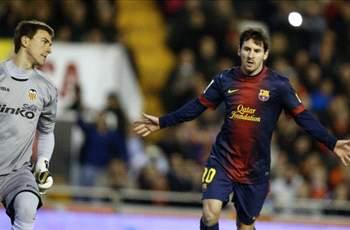 Valencia 1-1 Barcelona: Messi penalty denies Los Che
