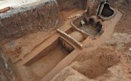 This tomb was uncovered recently in Xiangyang China.