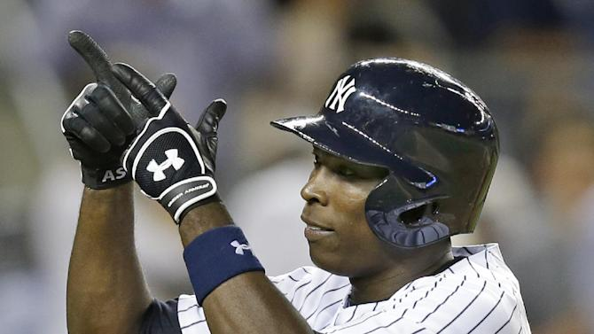 Soriano knocks in 7, Yankees rout Angels 11-3