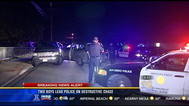 2 teens lead police on destructive chase
