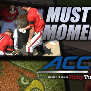 Louisville Players Bless Their Bats Before Big Game | ACC Must See Moment