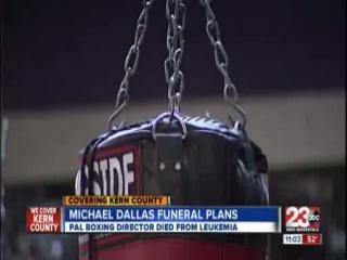 Michael Dallas being laid to rest