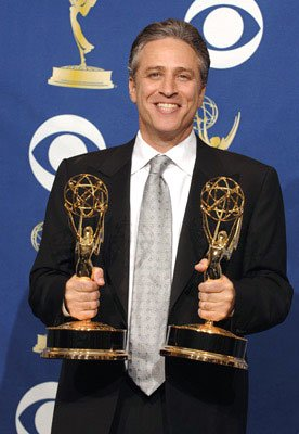 "Jon Stewart, winner - Outstanding Variety, Music or Comedy Series and Outstanding Writing for ""The Daily Show with Jon Stewart"" 57th Annual Emmy Awards Press Room - 9/18/2005"
