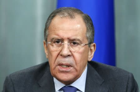 Russia's Lavrov says fighting 'terrorism' should unite Syrian opposition, Damascus