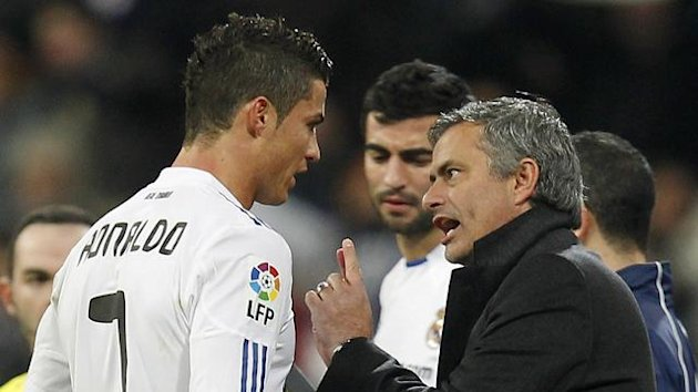Cristiano Ronaldo and Jose Mourinho (Reuters)