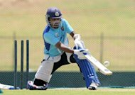 Sri Lankan cricket captain Mahela Jayawardene plays a shot during a practise session on July 20 in Hambantota, Sri Lanka. Sri Lanka are determined to build on their recent success which saw them win both the Test and one-day home series against Pakistan