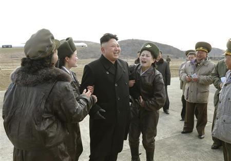 Handout photo of North Korean leader Kim Jong Un supervising a flight drill of the KPA Air and Anti-Air Force Unit 2620