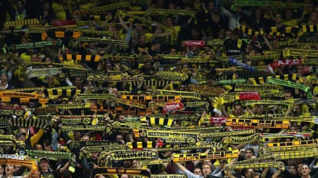 Borussia Dortmund fans during the 2-1 win over Arsenal (Reuters)