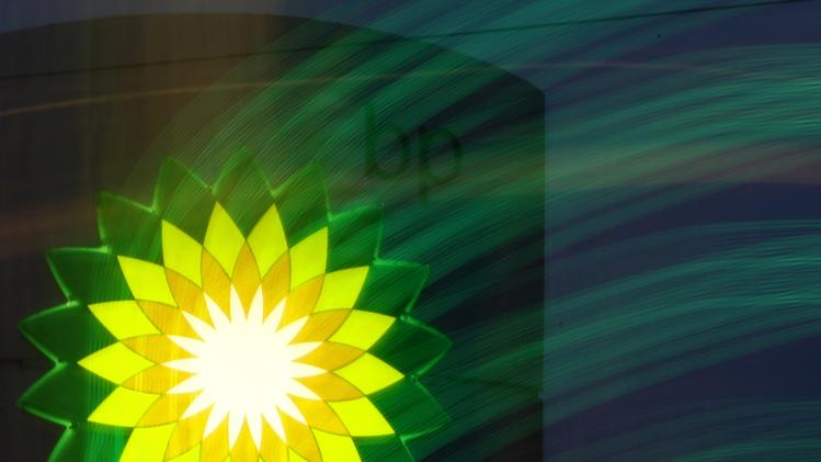 File photo of BP logo seen at a fuel station of British oil company BP in St. Petersburg