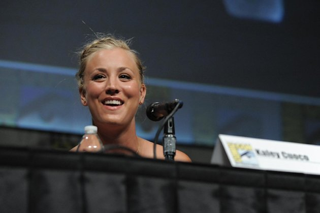 Kaley Cuoco attends the &quot;Big Bang Theory&quot; Panel panel at Comic-Con on Thursday, July 12, 2012 in San Diego, Calif. (Photo by Jordan Straus/Invision/AP)
