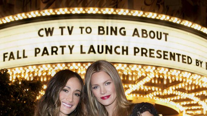 "Maggie Q (""Nikita"") and Natasha Henstridge (""The Secret Circle"") attend The CW Fall Premiere party presented by Bing at Warner Bros. Studios on September 10, 2011 in Burbank, California."