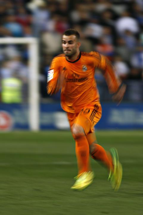 Real Madrid's Jese runs for a ball during their Spanish First Division match against Malaga in Malaga
