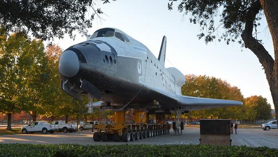 Space Shuttle Shuffle: Houston's Mock Orbiter Moved for New 2015 Attraction