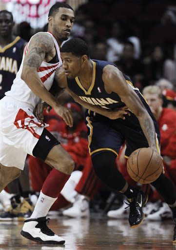 Granger has 32 as Pacers top Rockets 104-102 in OT