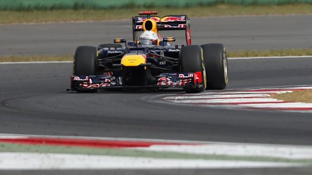 Red Bull Formula One driver Sebastian Vettel of Germany drives during the third practice session of the South Korean F1 Grand Prix at the Korea International Circuit in Yeongam October 13, 2012.