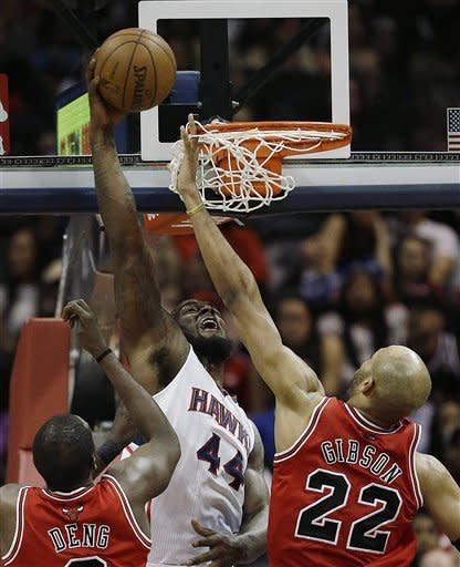 Bulls beat Hawks 93-76 with 3 starters held out