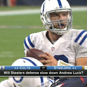 Can the Pittsburgh Steelers stop Indianapolis Colts quarterback Andrew Luck?