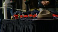 A service for Alberta police and peace officers that have died in the line of duty was held Sunday at the Legislature.