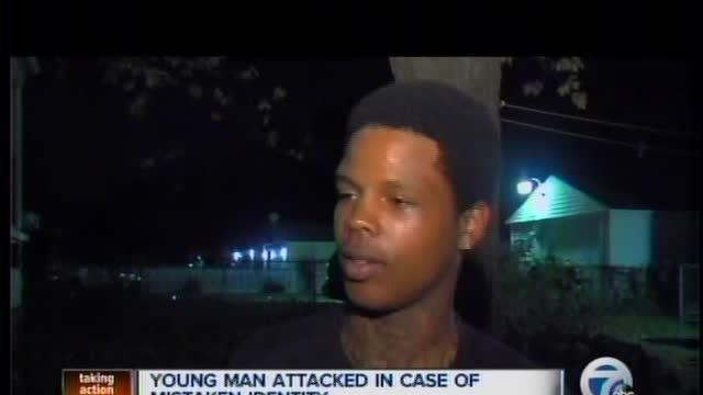 Young man attacked in case of mistaken identity