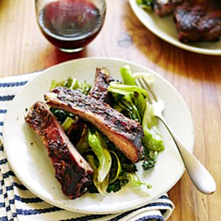 Grilled Spareribs with Fennel Seeds and Herbs