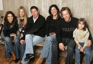 Marisa Tomei, Kyra Sedgwick, producer Danny Bigel, screenwriter Victoria Redel, director Kevin Bacon and Dominic Scott Kay Loverboy Portraits - 1/25/2005 Sundance Film Festival