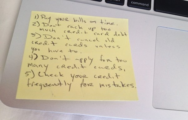 Credit.com's Credit Post It